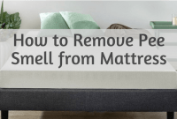 How to Remove Pee Smell from Mattress