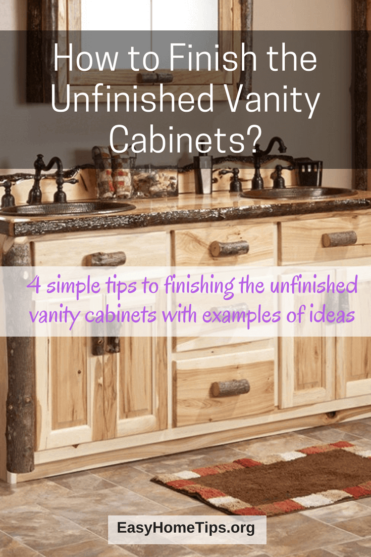 How to finishing the unfinished vanity cabinets