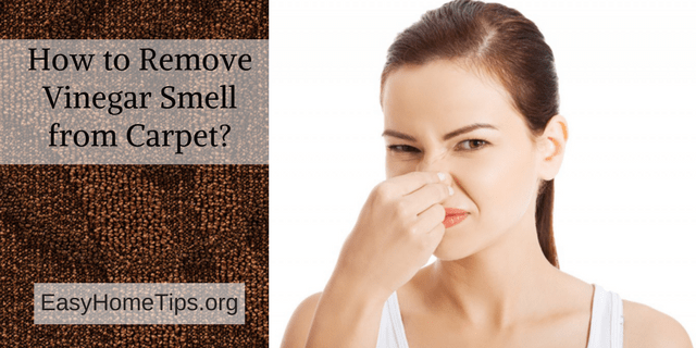 How to remove vinegar smell from carpet