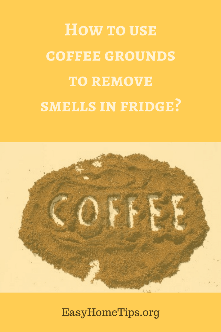 How to use coffee grounds to remove smells in fridge