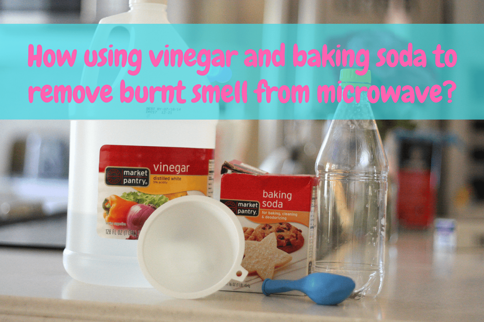 How using vinegar and baking soda to remove burnt smell from microwave-