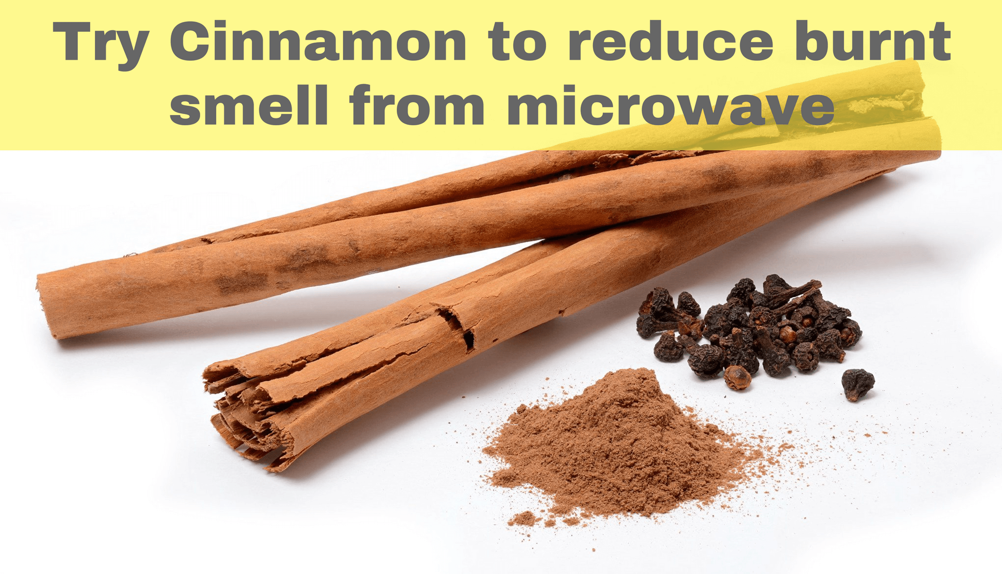 Try cinnamon to reduce burnt smell from microwave