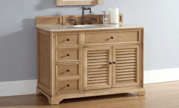 Unfinished solid wood bathroom vanity