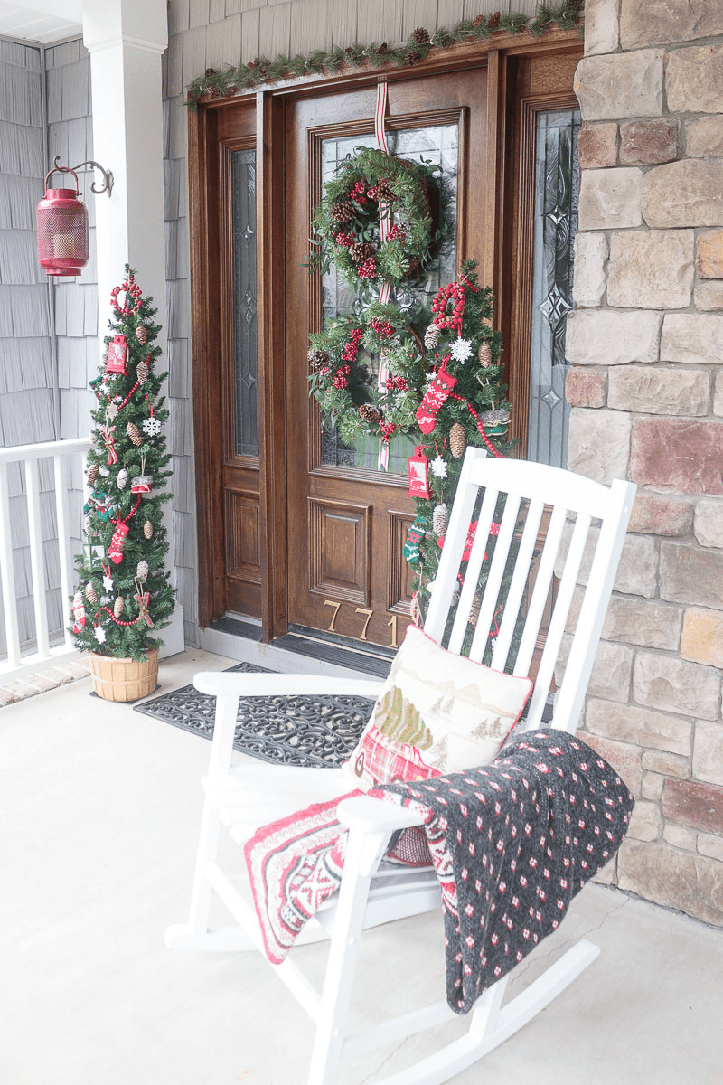 Christmas front door ideas diy