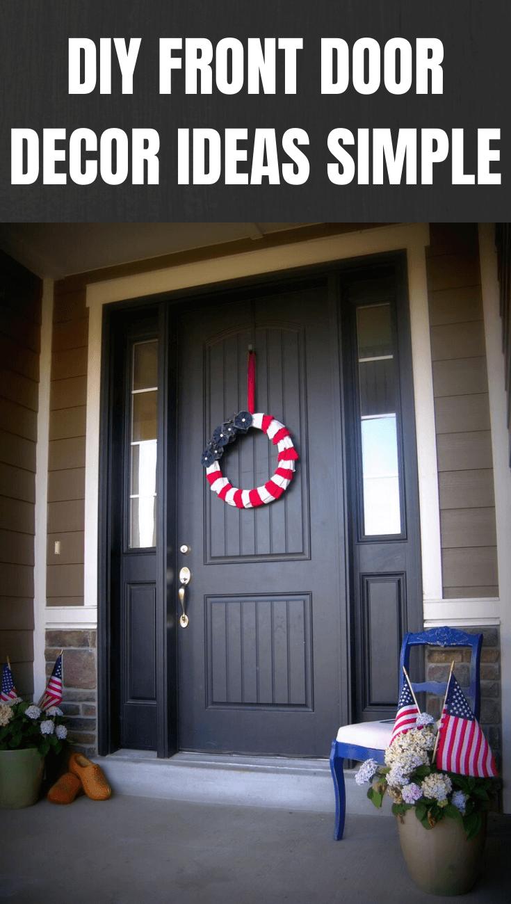 DIY FRONT DOOR DECOR IDEAS SIMPLE