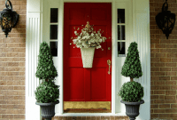 Flower basket door decor