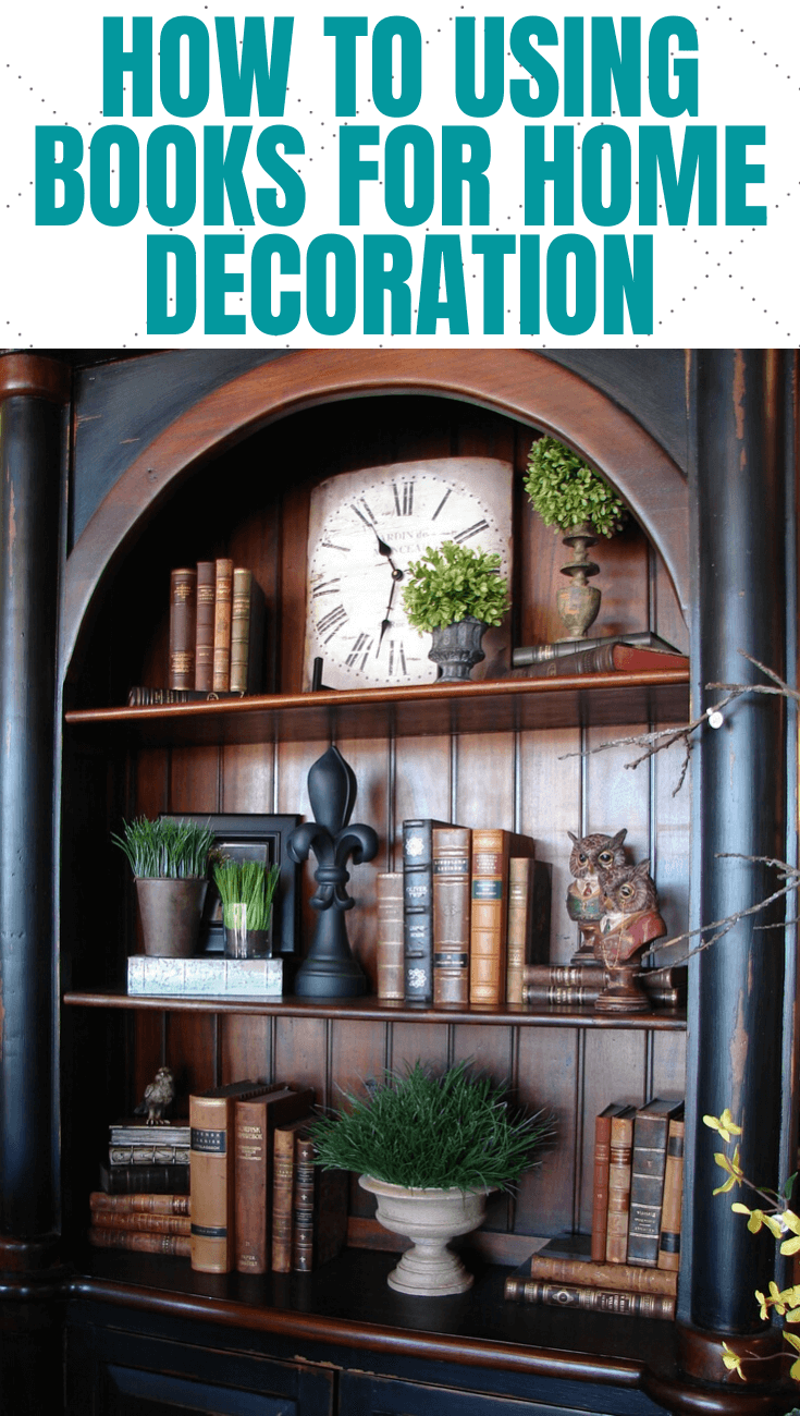 HOW TO USING BOOKS FOR HOME DECORATION
