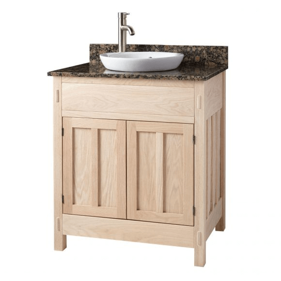Single sink unfinished bathroom vanity cabinet ideas