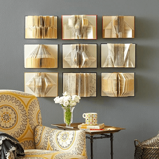 Wall decor with book