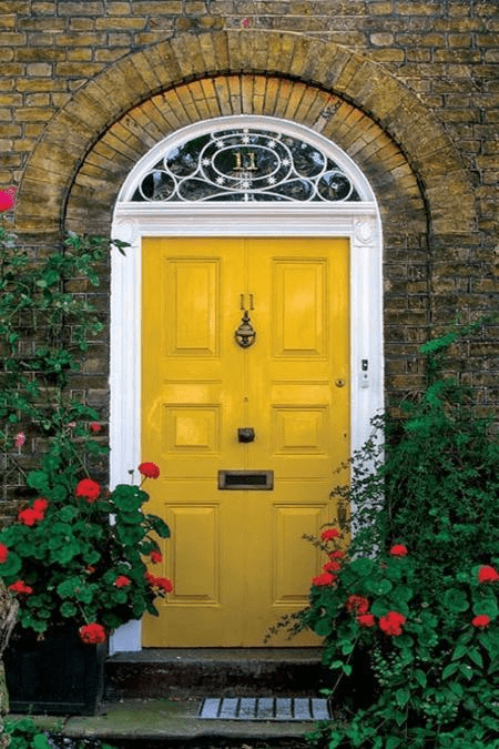 Yellow front door paint color ideas