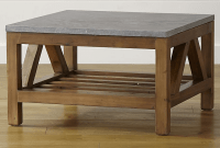 Bluestone top crate and barrel square coffee table