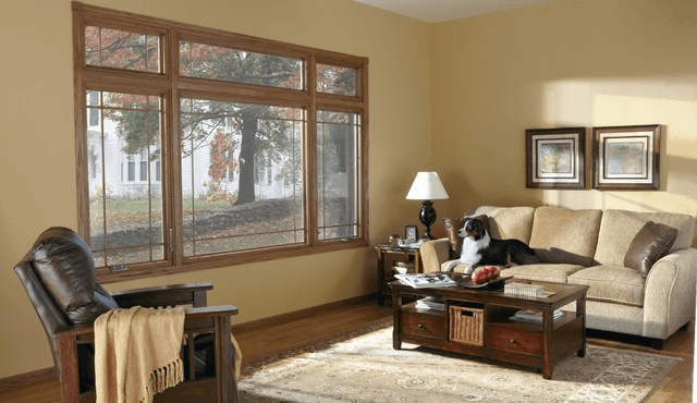 Casement windows living room
