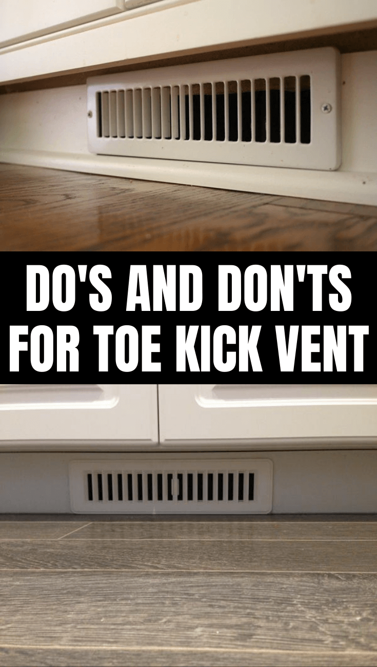DO'S AND DON'TS FOR TOE KICK VENT