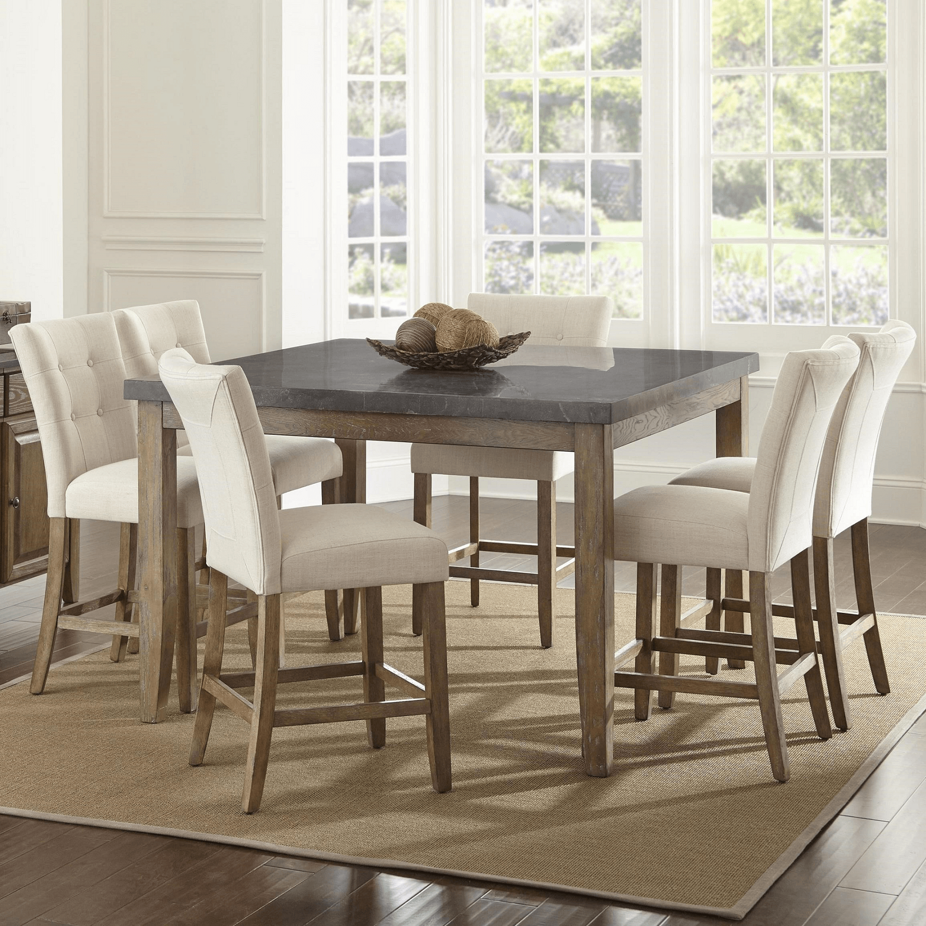 Dining bluestone table and chairs set