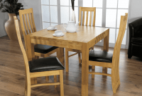 Natural wooden Dining Room Table Decor For Small Family