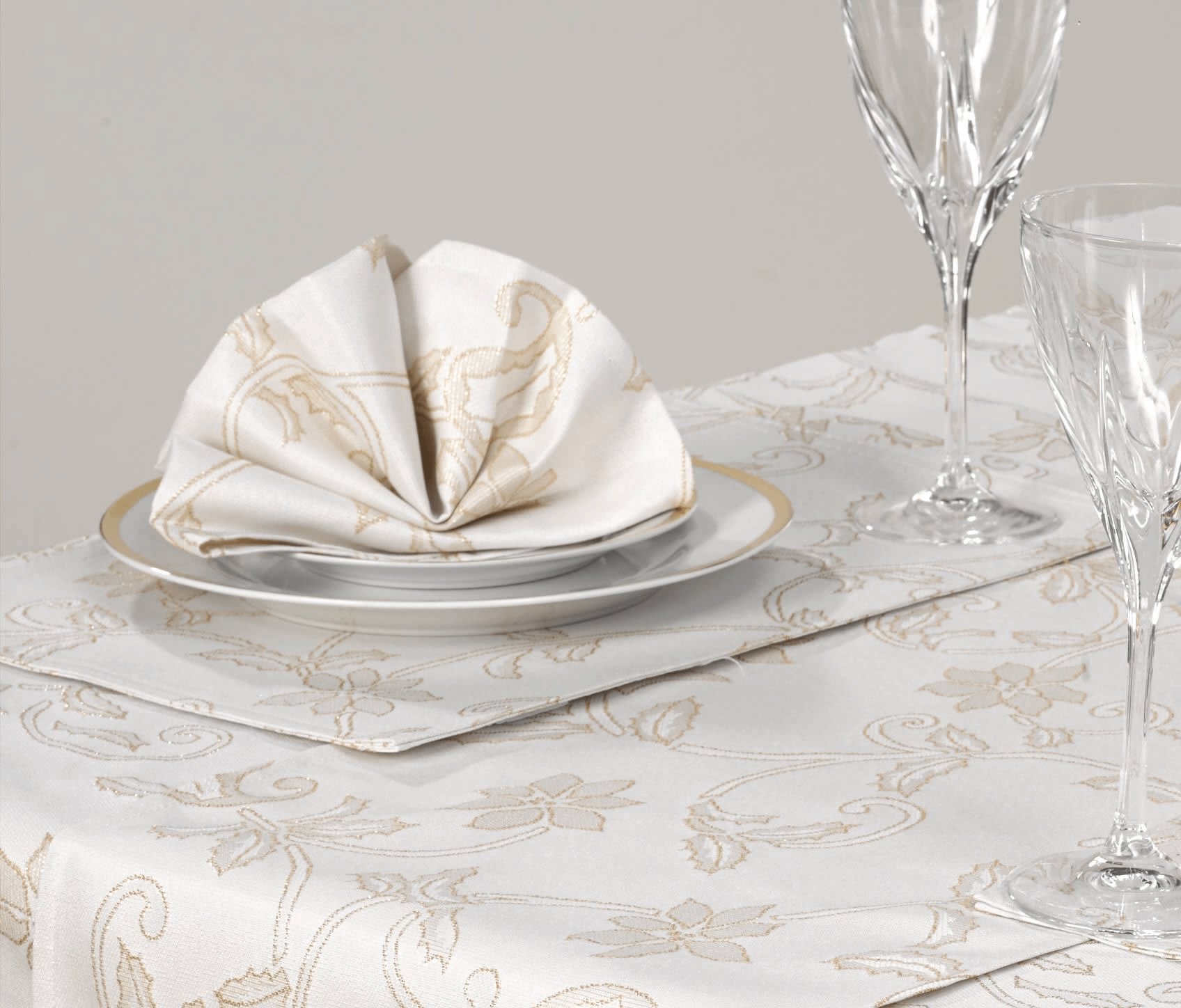 Piece of Christmas cloth for dining table decoration