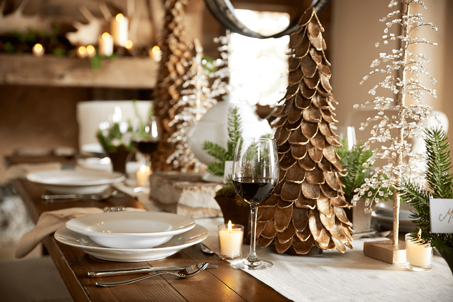 Small Christmas Tree for Dining Table Decoration