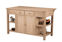 Unfinished Kitchen Island with Optional Finishing Kit