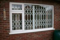 White contemporary window grille design