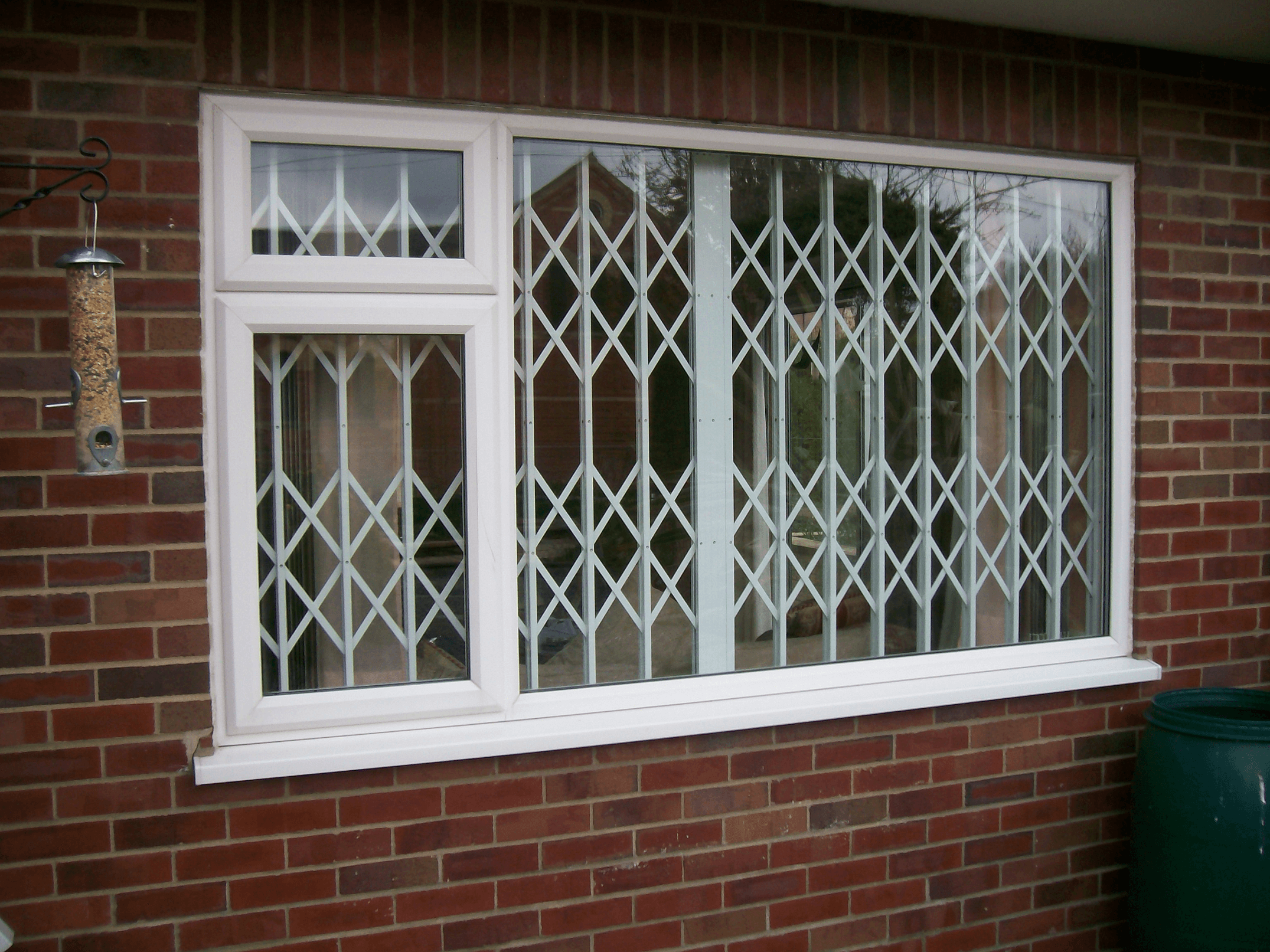 White contemporary window grille design