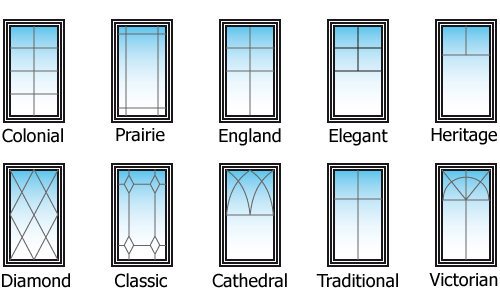 Window grill patterns and styles
