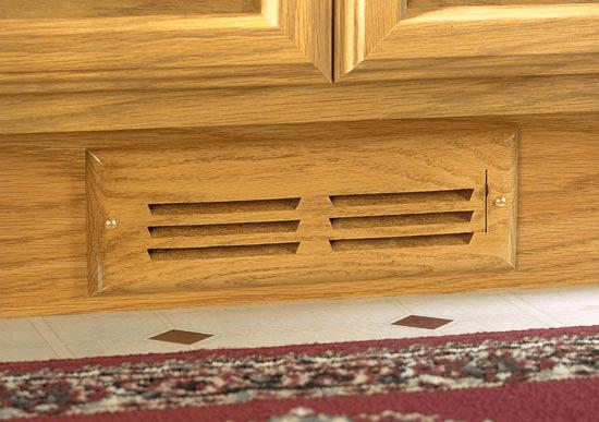 Wood Toe Kick Vent Cover