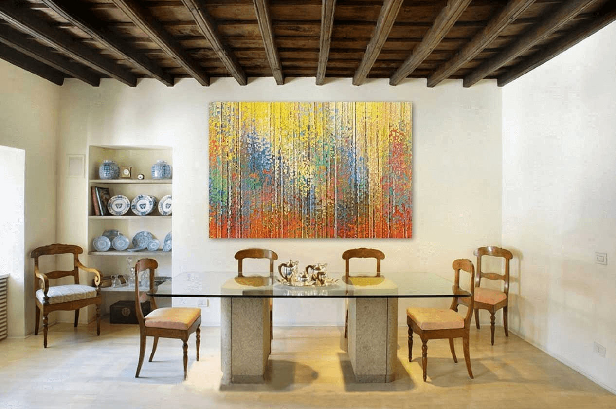 abstract wall art dining room