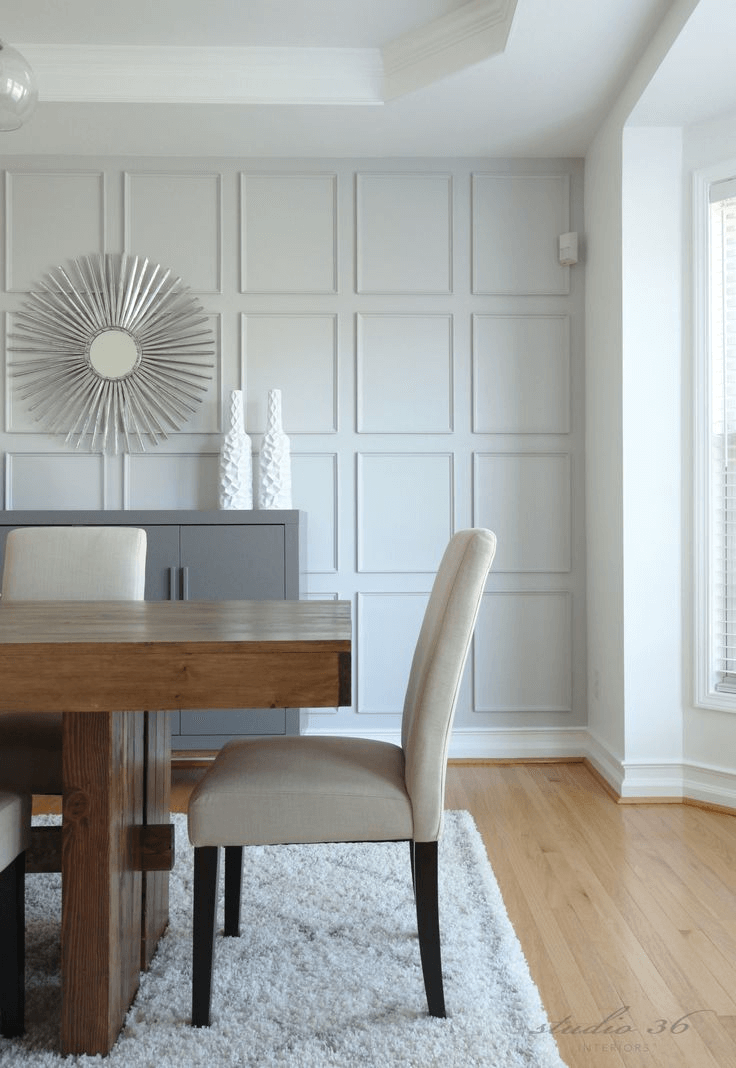 Batten dining room wall trim ideas