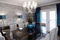 Blue Grey Dining Room Wallpaper Ideas