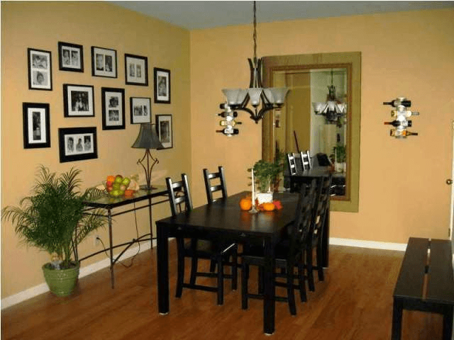Bronze wall dining room color ideas