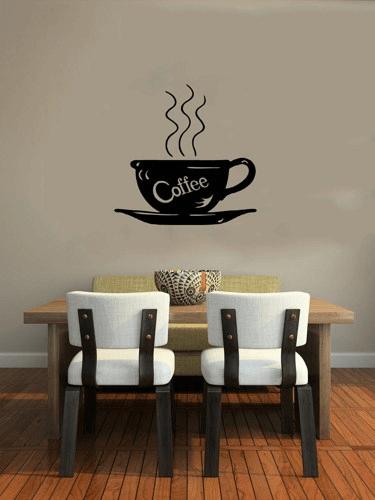 Coffee Word Art Stencil dining room wall decor
