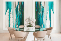 Contemporary abstract Dining Room Wall Art Ideas