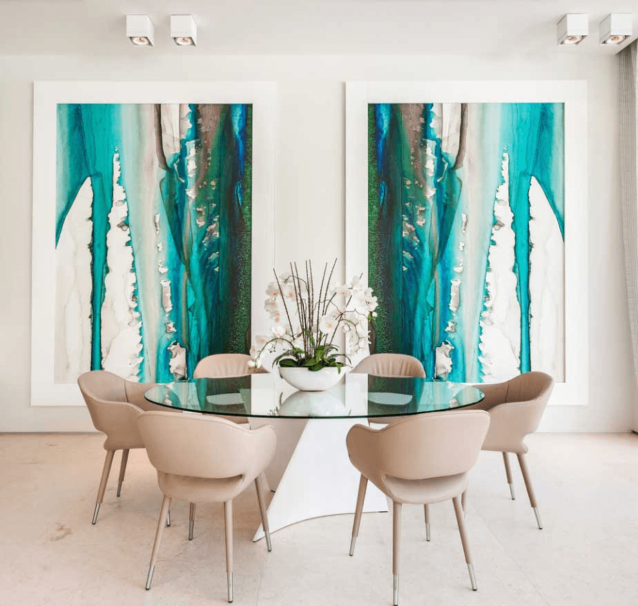Wonderful Contemporary Abstract Dining Room Wall Art Ideas