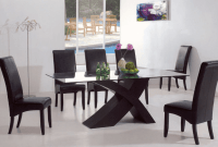 Contemporary dining table decor with fruit and flowers