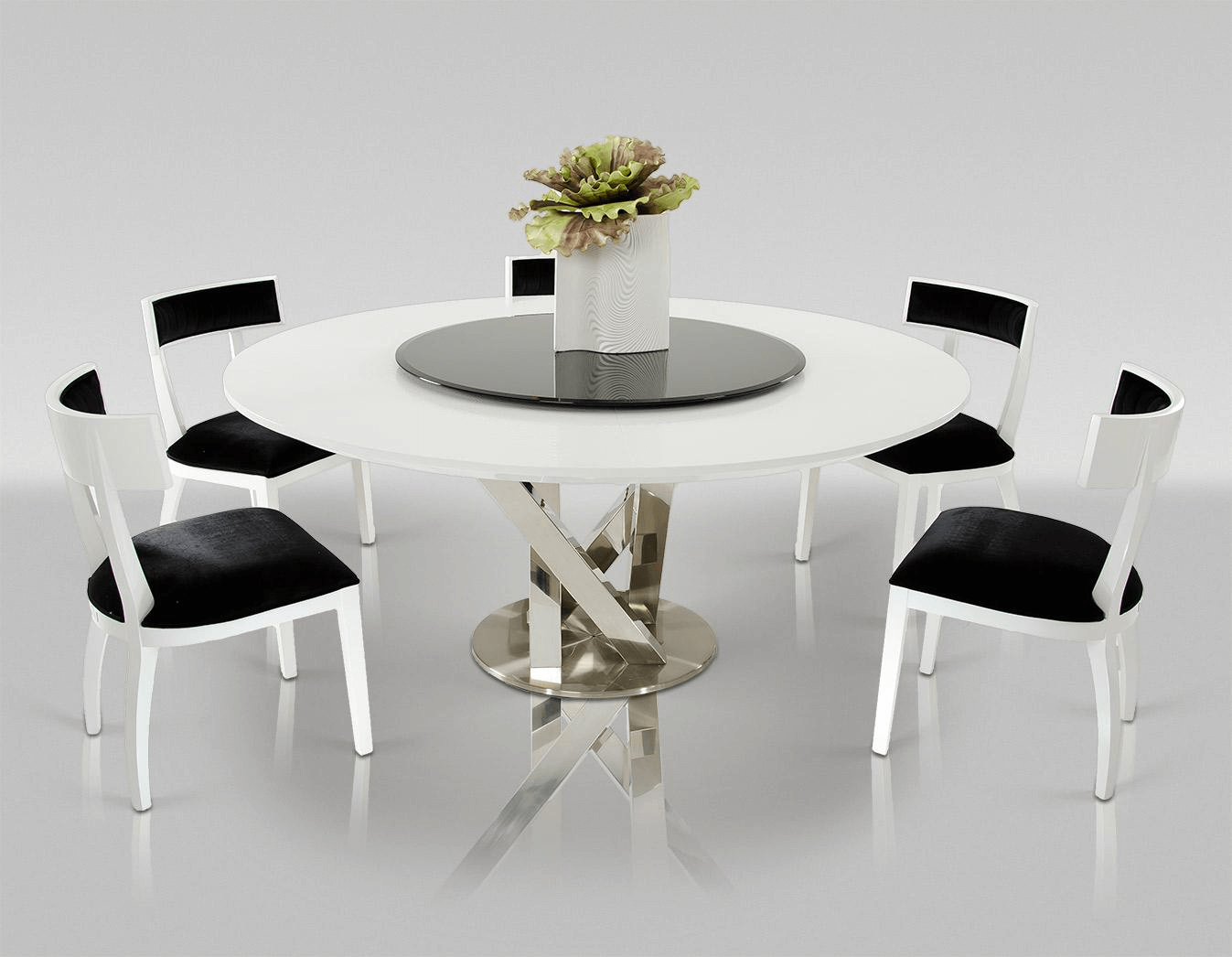 Contemporary dining table round decorations