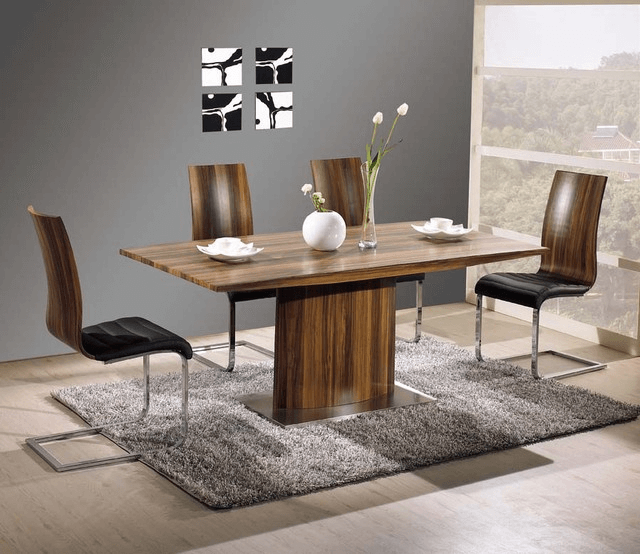 Contemporary dining table wood