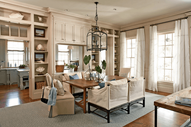 Dining room wall cabinet decor ideas