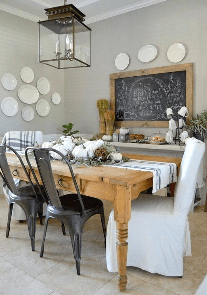 Dining room wall decor farmhouse