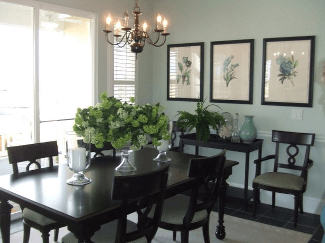Dining table room side buffet decoration ideas