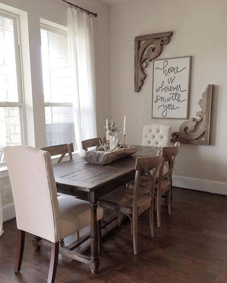 Farmhouse Vintage Dining Room Wall Decor Ideas