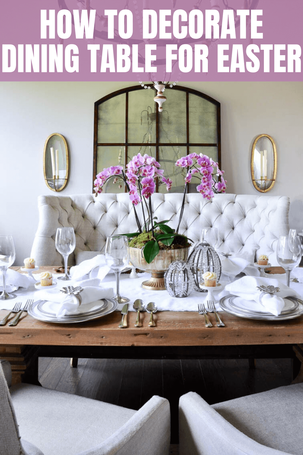 HOW TO DECORATE DINING TABLE FOR EASTER