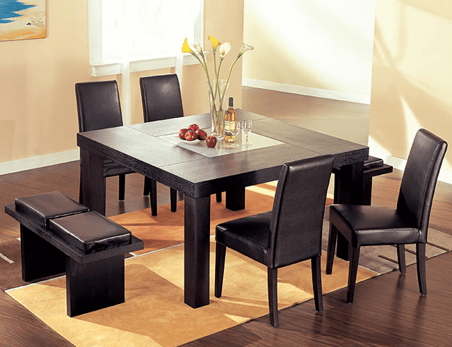 How to Decorate Square Dining Table