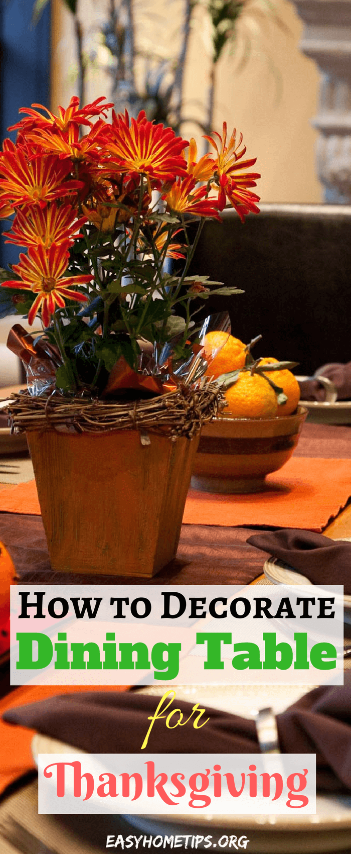 How to decorate dining room table for thanksgiving