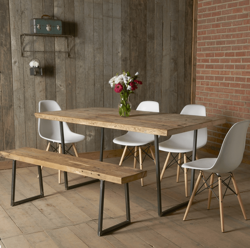 How to decorate simple wooden small rustic dining table
