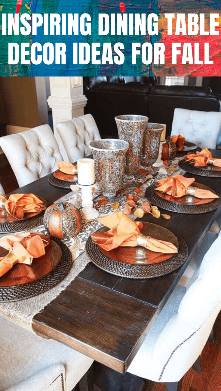INSPIRING DINING TABLE DECOR IDEAS FOR FALL