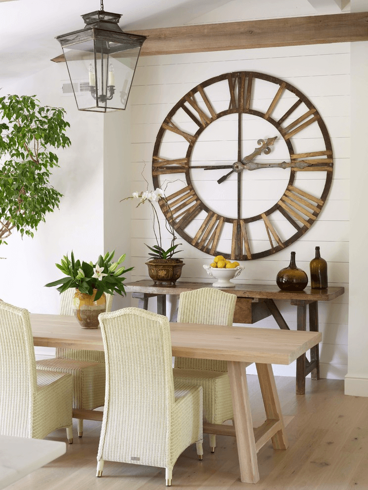 Large clock wall decor dining room