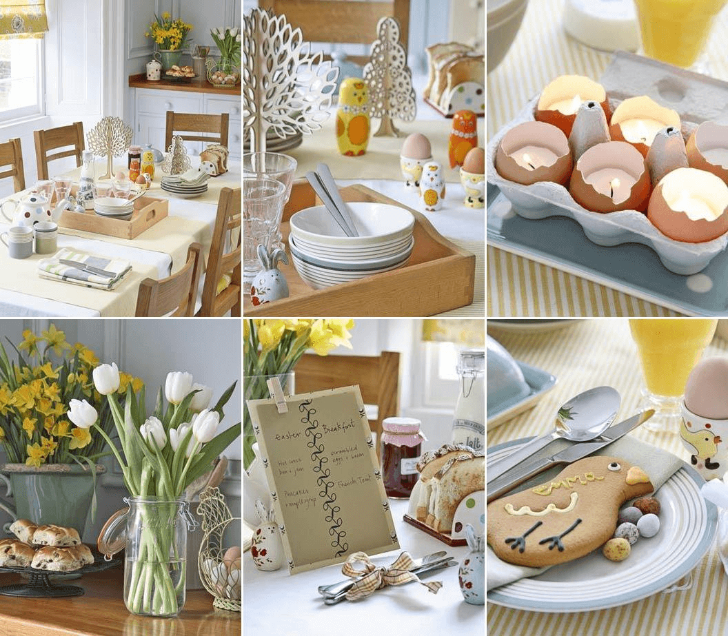 Nice ideas dining table decor for easter