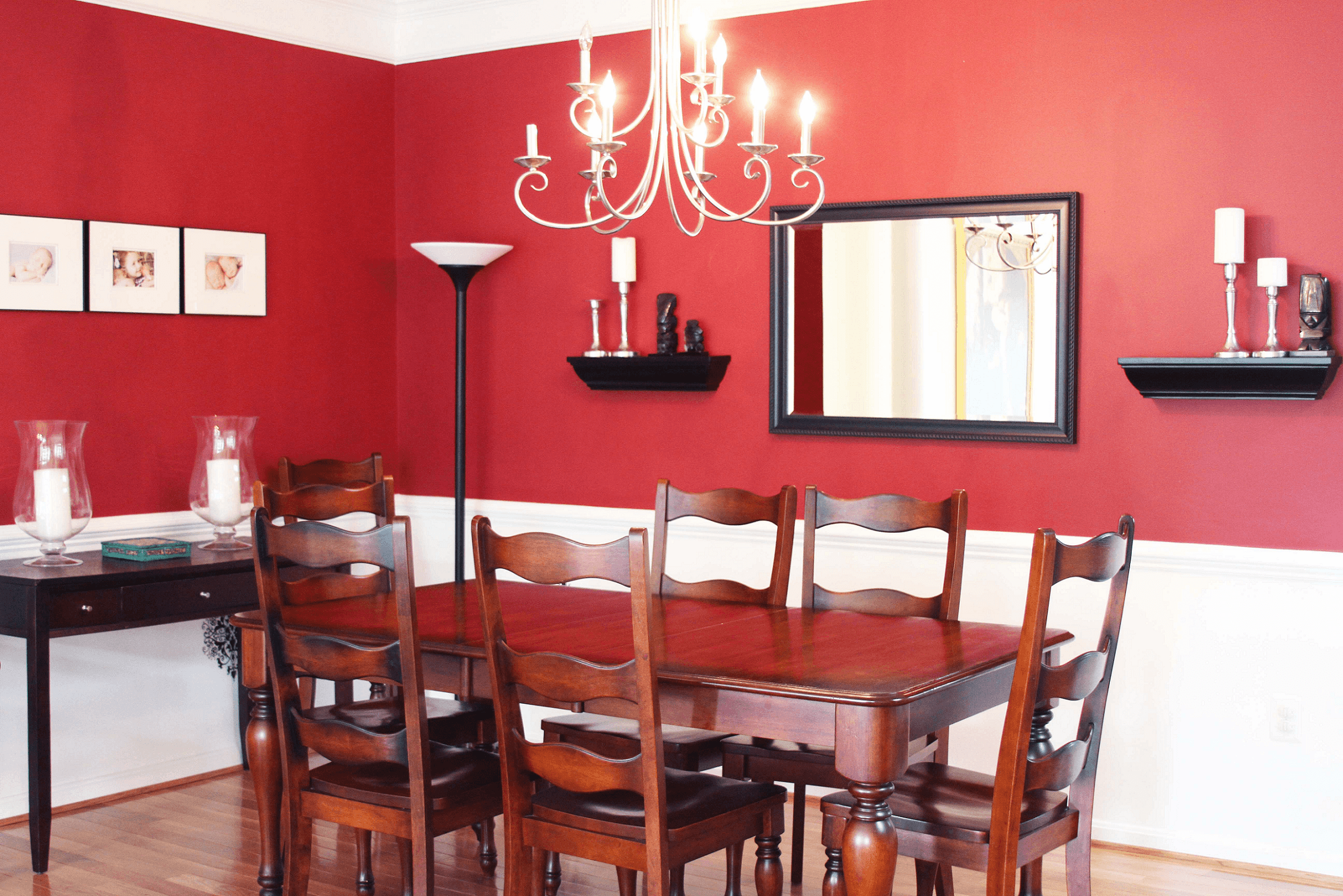 Red Painting Traditional dining room wall decor