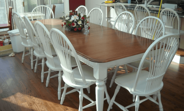 Refinished dining table and chairs repainting white ideas