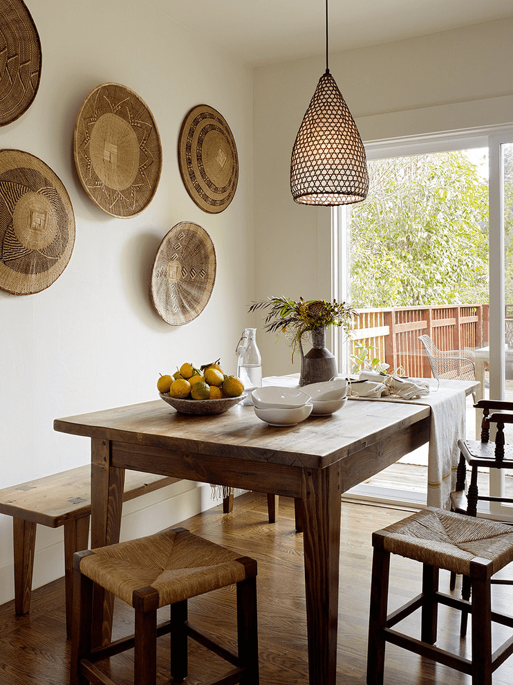 Attractive Rustic Dining Room Wall Decor Ideas